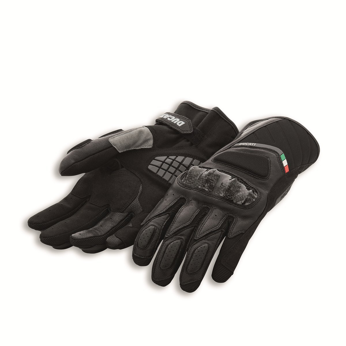 Ducati Sport C3 Leather-fabric gloves 9810370 (L, Black)