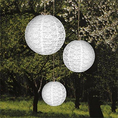 Efavormart Luxurious Floral Lace Lanterns Centerpiece - White- 6 ()