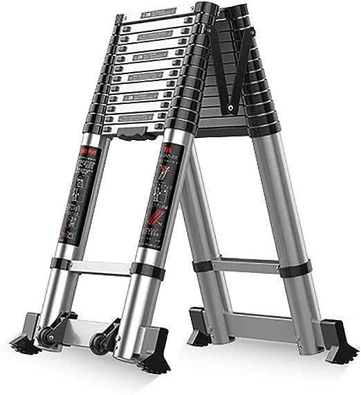 Escalera Telescópica- Escalera De Aluminio con Extensión Telescópica - Inicio/Ático/Escaleras De Mano Compactas con Barra Estabilizadora Y Ruedas, Capacidad De 330 LB (Size : 3.1m/10ft): Amazon.es: Hogar