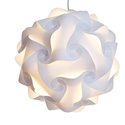 INFINITY LIGHTS Puzzle Light: White Modern Lamp Shade, X Large