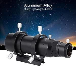 avec Le Trou de vis Installation Pratique Gazechimp Finderscope m/étal 32mm Guide Scope Finderscope pour Le t/élescope astronomique Couleur Noire