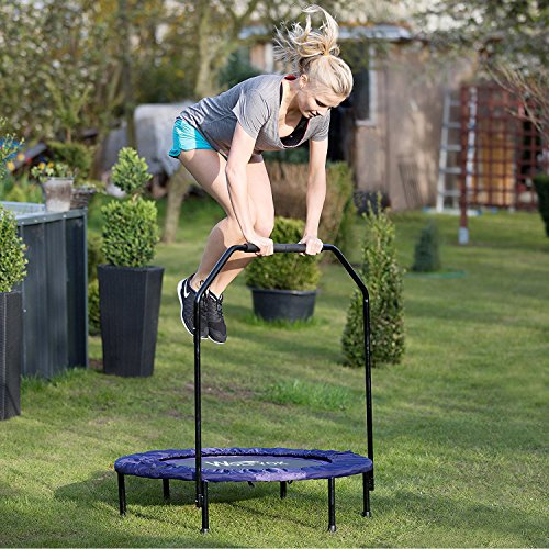 Wolfyok Exercise Trampoline With Safety Pad Adjustable