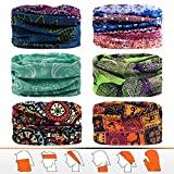 JOEYOUNG Headwear, Bandana, Neck Gaiter, Head Wrap, Headband for Men and Women, Multifunctional Head Scarf, Face Mask, Balaclava, Magic Scarf, Sweatband for Fishing, Yoga, Motorcycling
