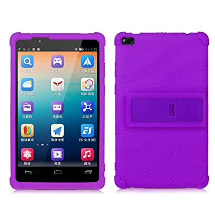 new arrivals 8d7eb 88101 HminSen Lenovo TAB 4 8 Case - Light Weight Shock Proof Soft Silicone Kids  Friendly Case for Lenovo TAB 4 8 TB-8504F TB-8504N Tablet, (Purple)
