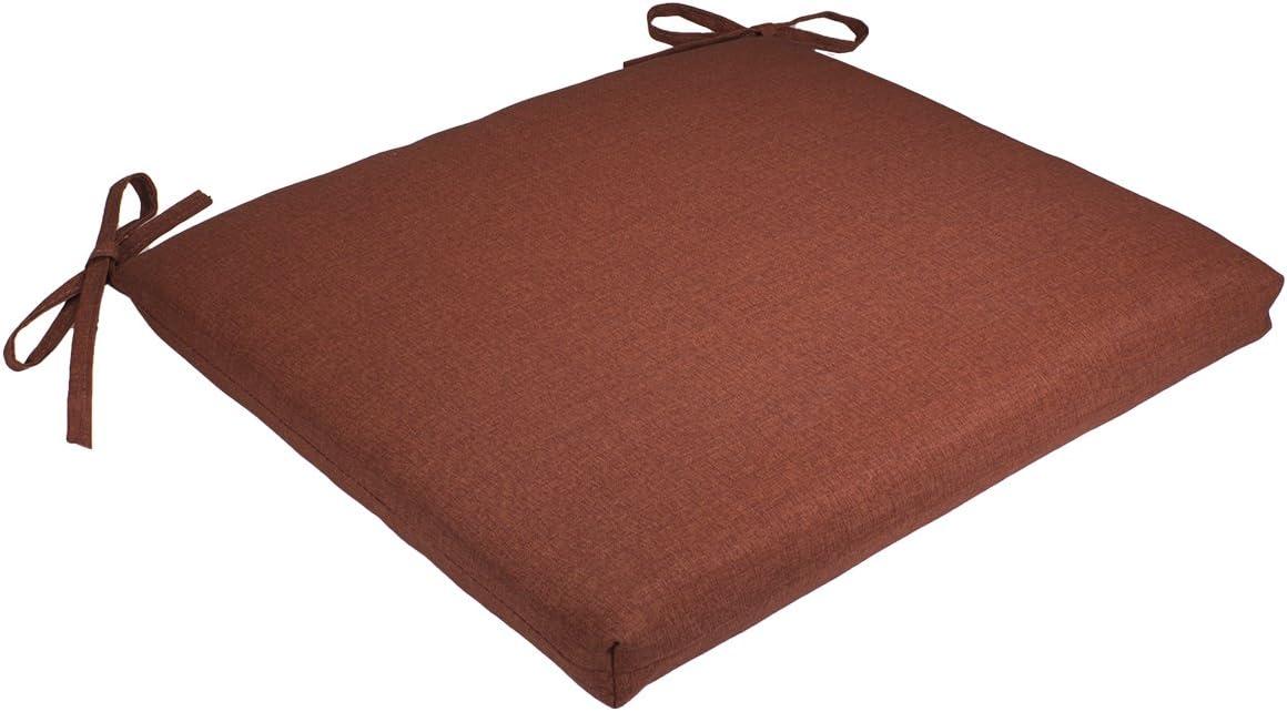 Comfort Classics Inc. Set of 4 19W x 17Dx 2H Spun Polyester Outdoor SEAT Cushion in Husk Texture Brick