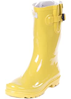 b03d00d647e44 Amazon.com   Forever Young Women Rain Boots, Mid-Calf 11'' Rubber ...