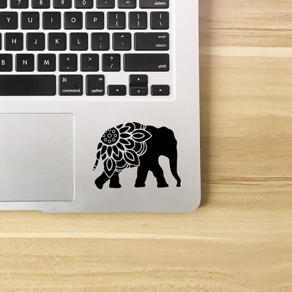 Elefante Mandala Silueta Arte de la pared de vinilo Etiqueta ...