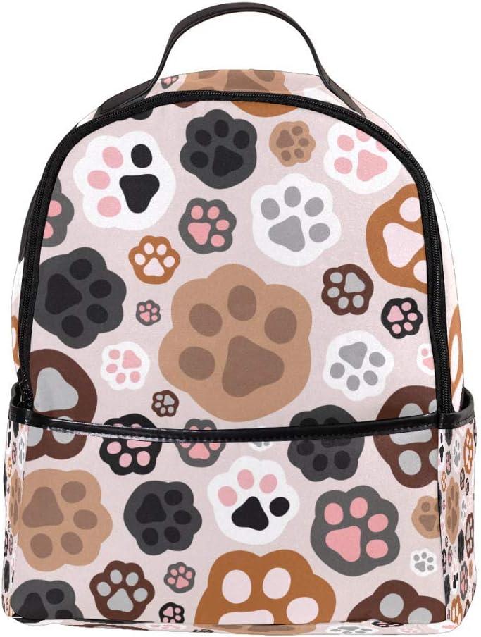 Lightweight MAPOLO Laptop Backpack Cat Paw Prints Pattern Casual Shoulder Daypack for Student School Bag Handbag