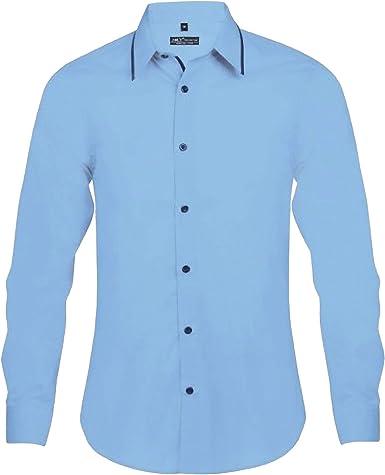 SOLS - Camisa entallada de manga larga Modelo Baxter hombre caballero - Trabajo/Fiesta/Verano: Amazon.es: Ropa y accesorios