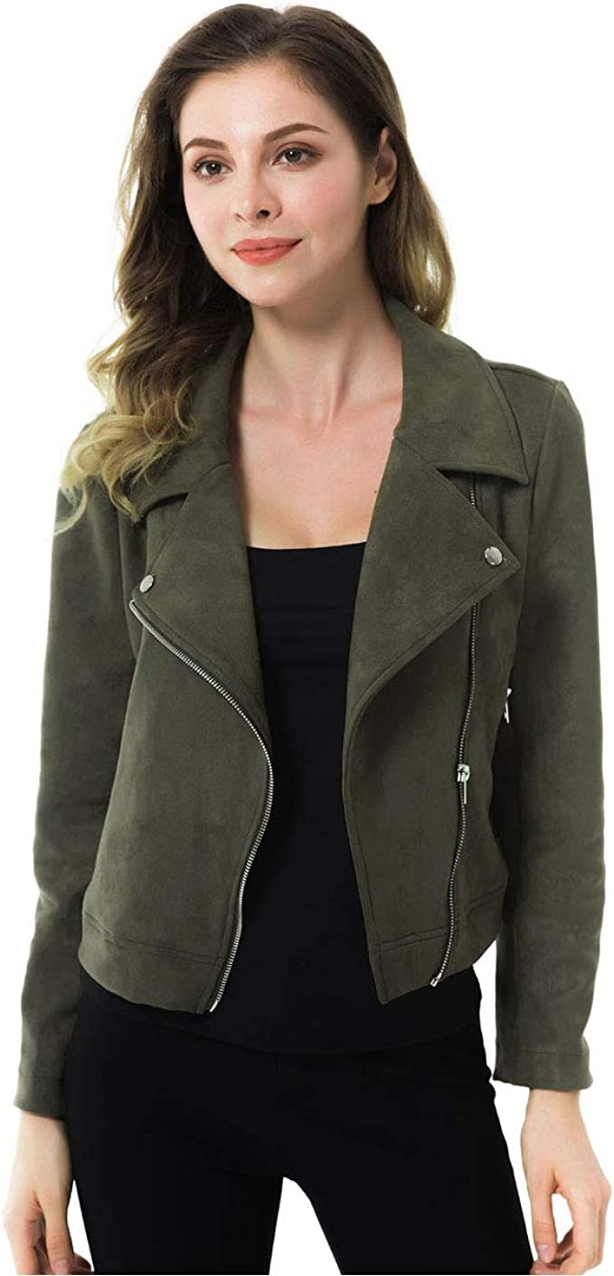 Details about  /Jack Womens Faux-Suede Moto Motorcycle Jacket