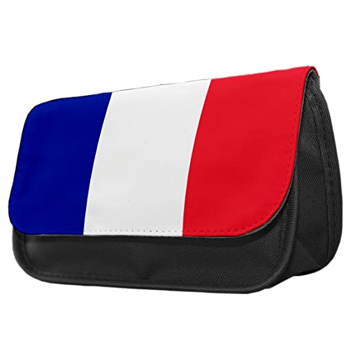 Francia bandera estuche/Make up bolsa 073