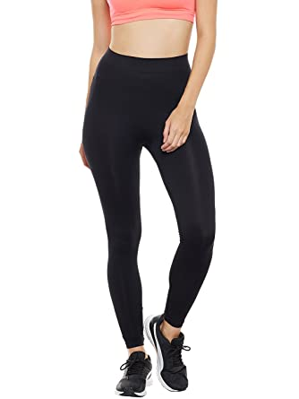 af88886b840066 Champion By fbb C9 Women's Polyamide Seamless Solid Ankle Length Legging  (Black, Medium): Amazon.in: Clothing & Accessories