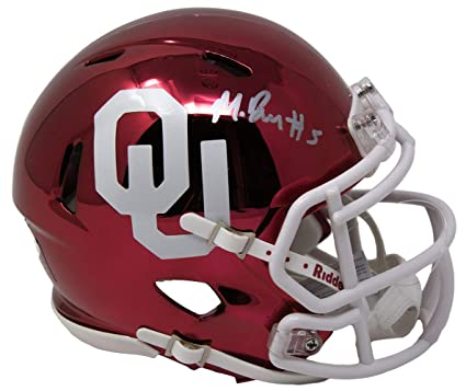 04c8adadb Image Unavailable. Image not available for. Color  Marquise Brown Signed  Oklahoma Sooners Chrome Mini Helmet JSA