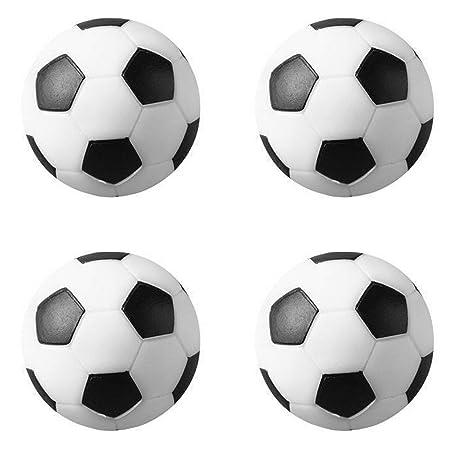 Huji Foosballs Repuesto Mini Pelotas de fútbol, Negro/Blanco ...