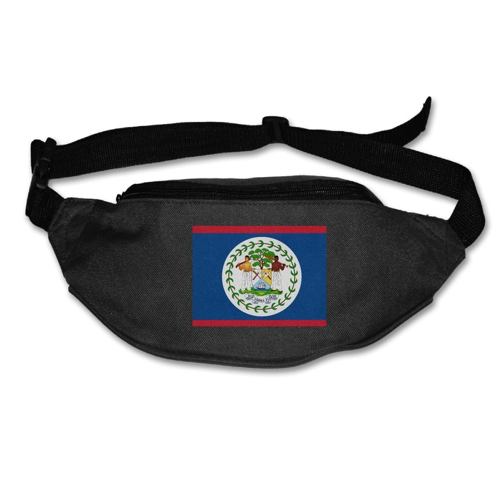 Futong Huaxia Flag Of Belize Unisex Waist Packs Adjustable Outdoor Running Sport Hiking Fanny Packs Wallet