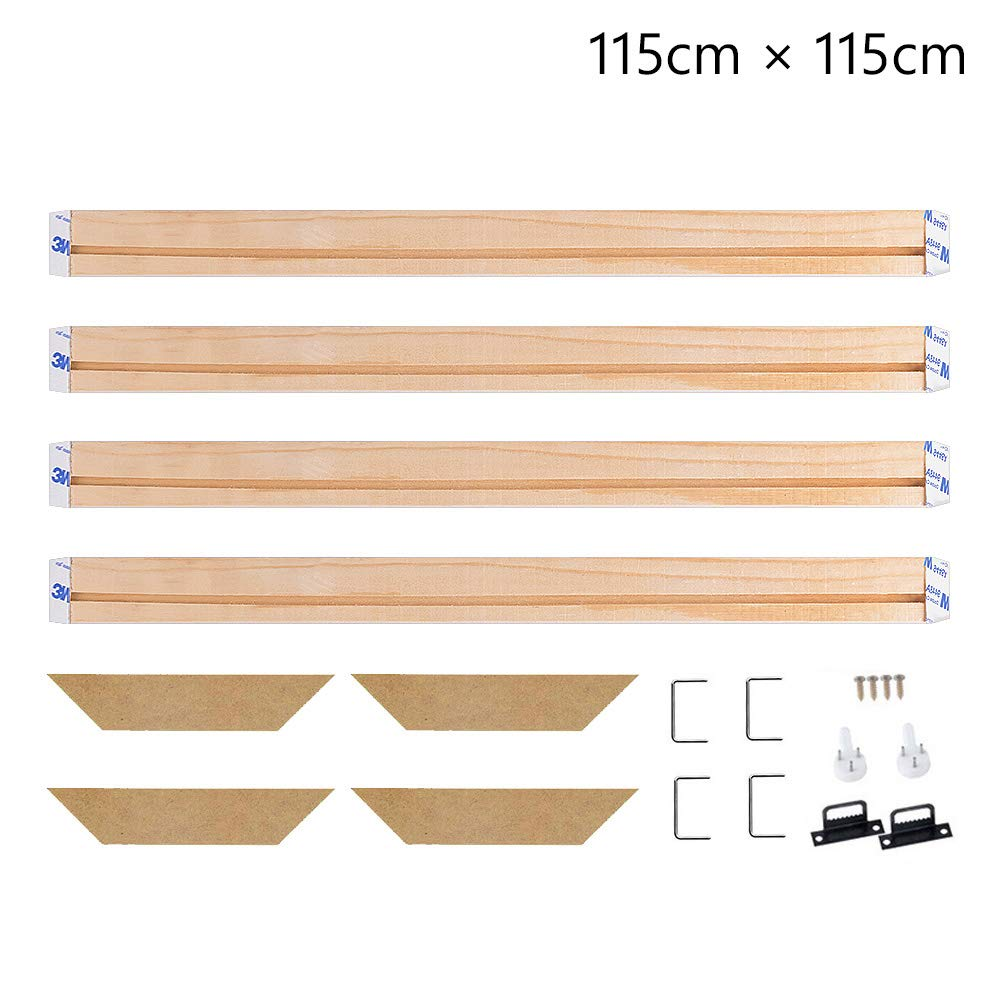 18x53 Inch Stretcher Bars,Wood Canvas Frame Kit,DIY Canvas framm for Oil Painting,Art Stretcher Bars 45x135cm