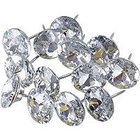 Healifty 30 Piezas sofá cabecero Diamante Cristal tapicería