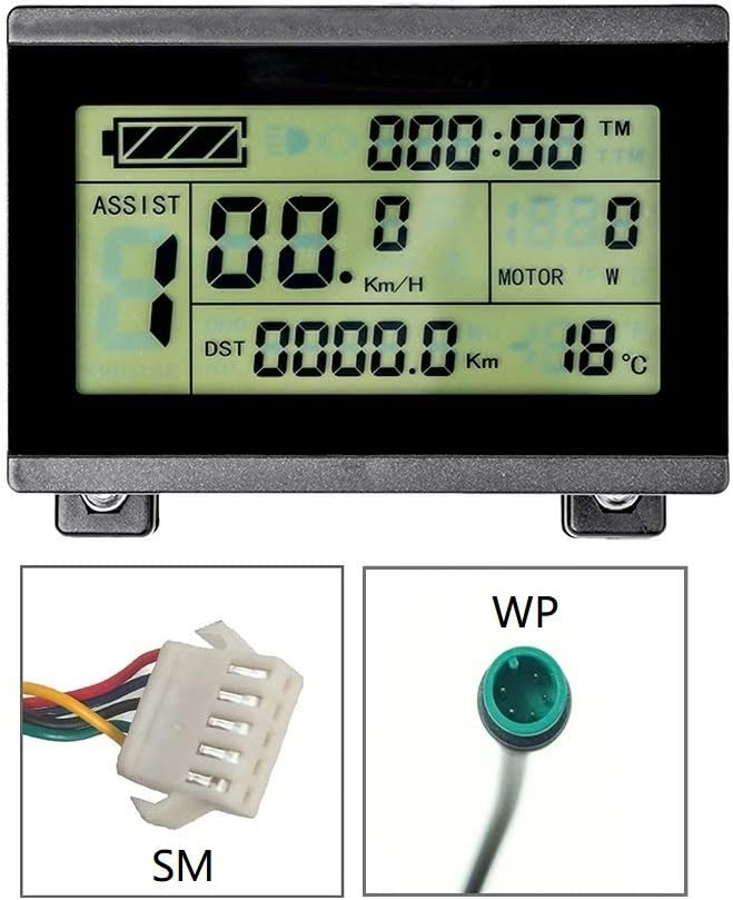 Brands RICETOO KT Display LCD3 Control Panel Display Electric Bicycle Accessories 24V 36V 48V 72V Ebike Display LCD3U.