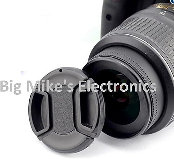 67mm Universal Snap-On Lens Cap for Nikon 18-105mm f//3.5-5.6 AF-S DX VR ED Nikkor Lens Cap Keeper Microfiber Cleaning Cloth