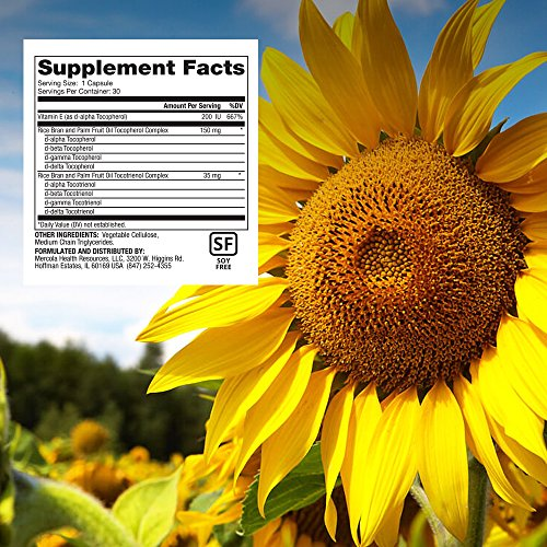 Dr. Mercola Vitamin E Supplement - 30 Capsules - 2 Bottles - Balanced Blend of Tocopherols and Tocotrienols - Made with Sunflower Oil - Contains No Soy - 200 IU D-Alpha Tocopherol by Dr. Mercola (Image #1)