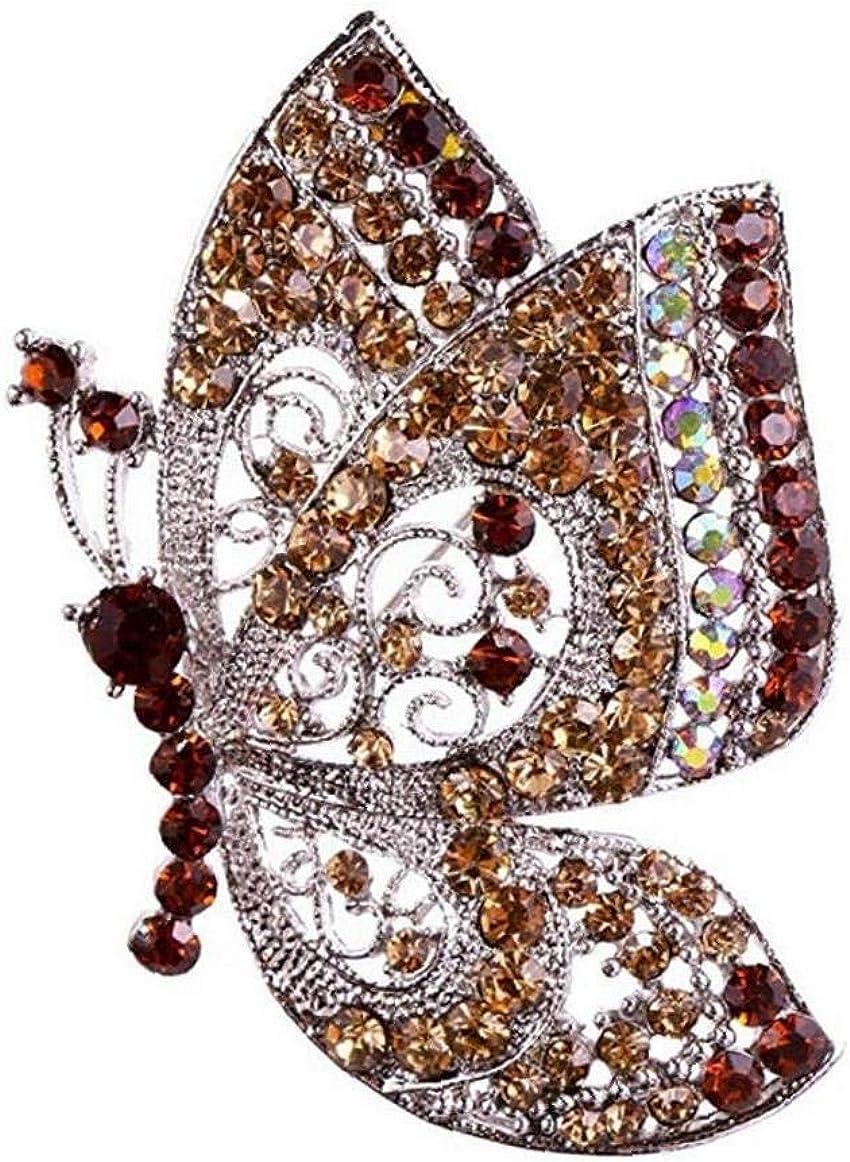 Naisicatar Farfalla Tacchi Moda Semplicemente Spilla Pin Multi Function Spilla in Metallo Breastpin Accessorio per Le Donne Brown