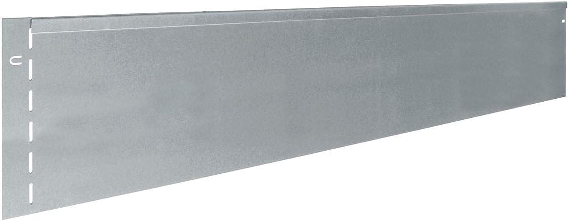 Nutzl/änge 23 m 7003 bellissa Rasenkante aus Metall silberfarbig 118 x 12,5 cm Mit patentierter Verbindungstechnik Stahlblech feuerverzinkt