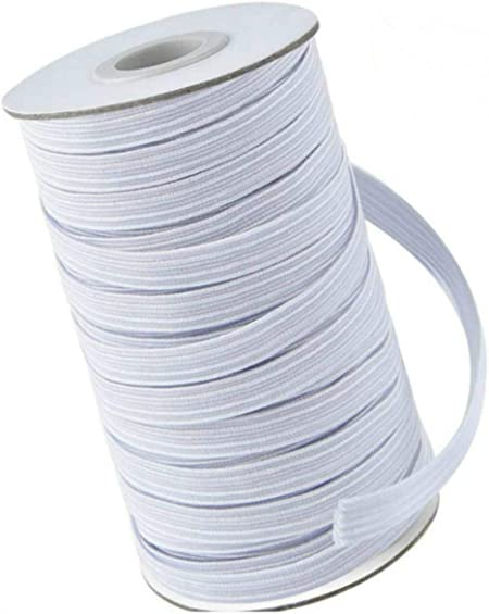 100 Yard Elastic Bands for Sewing 1//4 inch Width Braided Elastic Cord for Masks DIY Flat Elastic String Cord for Sewing 300 Ft