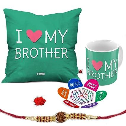 Indi ts I Love My Bro Quote Printed Gift Set Cus 12