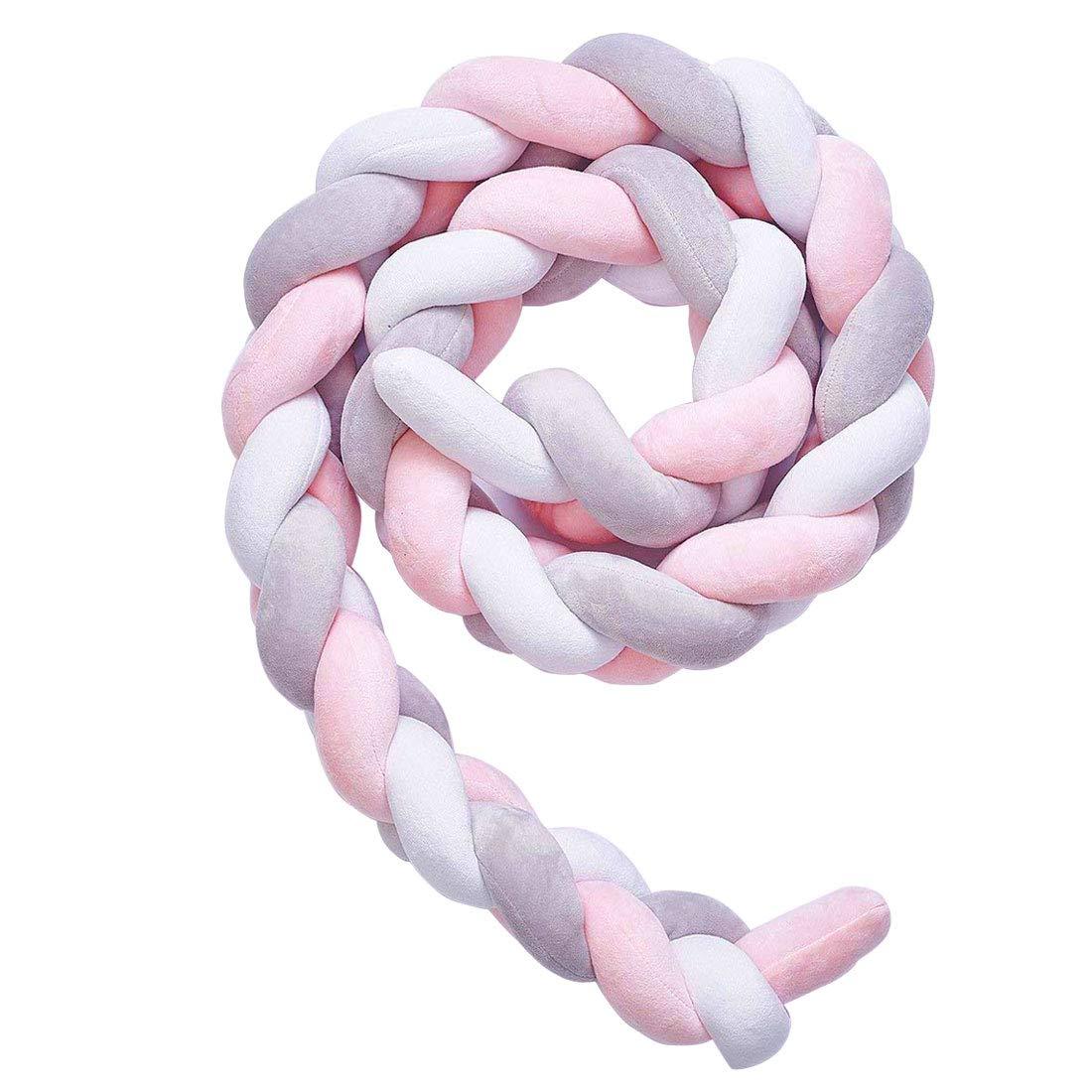 Levoberg Tour de Lit B/éb/é Coussin Serpent en Velours Tour de Lit Tress/é Pare-choc Protection pour Enfant 150cm #1