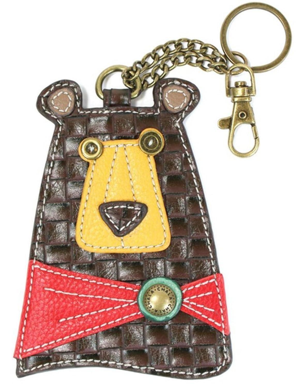 Chala Handbags 806BB0 Key Fob/Coin Purse - Black Bear