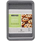 microwave bakeware - casaWare Ceramic Coated NonStick Cookie/Jelly Roll Pan (10 X 14-Inch, Silver Granite)