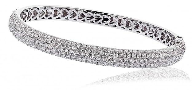 6, 50CT certificado g/VS2 todo símbolo de la eternidad del diamante del brazalete en 18 K oro blanco