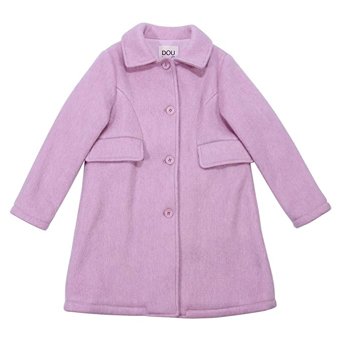 best loved 7b433 9210c Douuod Girl Cappotto Rosa Lana Bambina MOD. 208046104 12A ...