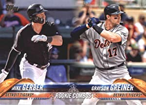 2018 Topps Update and Highlights Baseball Series #US36 Mike Gerber/Grayson Greiner RC Rookie Detroit Tigers Official MLB Trading Card