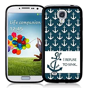 Cool Painting Galaxy S4 Case - S IV Case - ;Refuse To Sink Anchors Nautical Pattern Samsung Galaxy i9500 Case Snap On Case