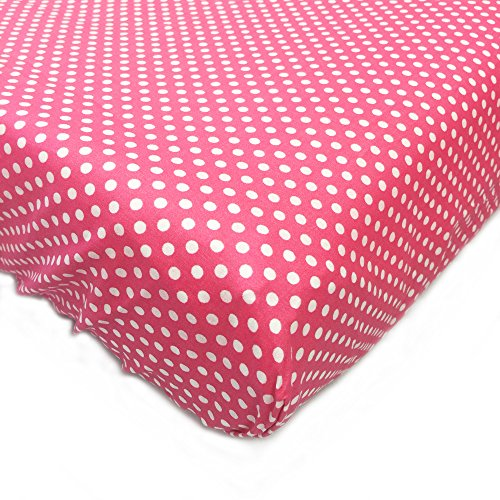 Simplicity Baby Cribs - One Grace Place Simplicity Hot Pink Crib Sheet, Hot Pink and White