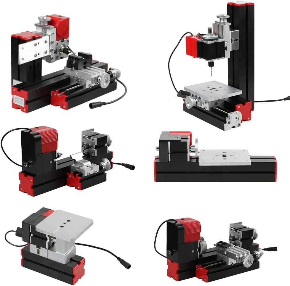 Kecheer Fr/äsmaschine DIY Motorisierter Transformator 6 in 1 Mehrzweckmaschine Stichs/ägenschleifmaschine Kunststoff-Drehmaschine Drehmaschine Drehmaschine Bohren Schleifen Drehen Fr/äsen S/ägen