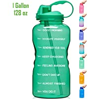 $20 » Venture Pal Large 1 Gallon/128 OZ (When Full) Motivational BPA Free Leakproof Water Bottle…