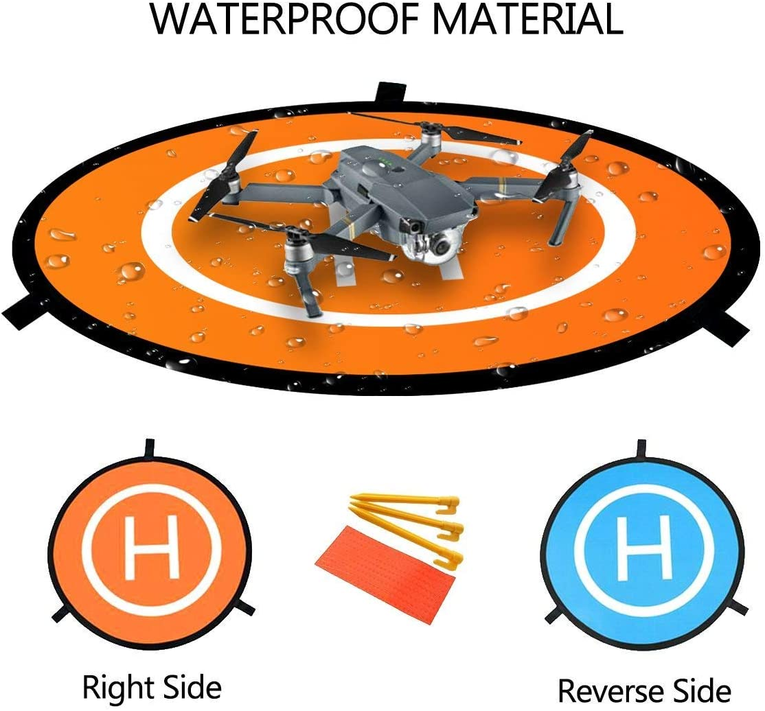 Waterproof Nylon for DJI Tello Mavic Phantom 3 4 Spark Mavic 2 Pro Zoom Air Fstop Labs Drone and Quadcopter Landing Pad Accessories 32 inch
