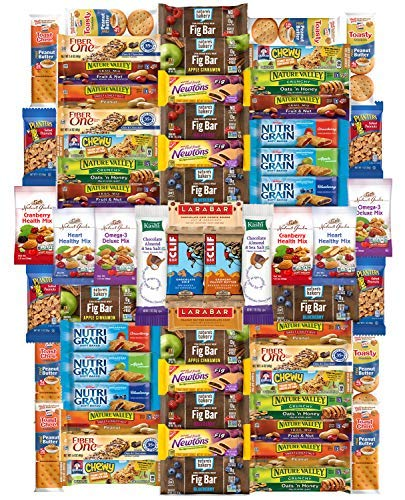 Ultimate Care Package Healthy Bars, Crackers, Nuts & Snacks Gift Variety Pack Assortment Bulk Sampler by Variety Fun (65 Count)
