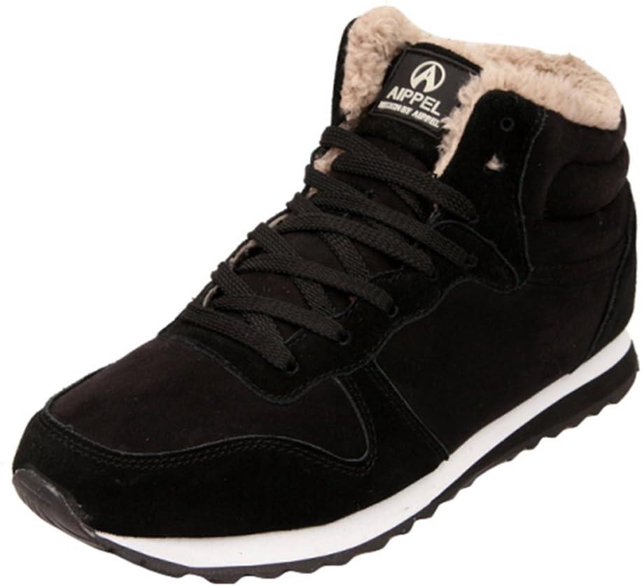 hibote Zapatillas de Deporte Hombre//Mujer Zapatos de Invierno Botines c/álidos de Felpa Botas de Nieve de Forro de algod/ón Zapatos Casuales Zapatos para Caminar