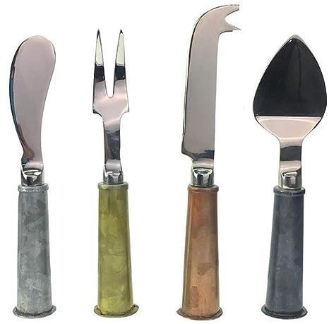 Amazon.com: Juego de cuchillos de queso 4 piezas único ...