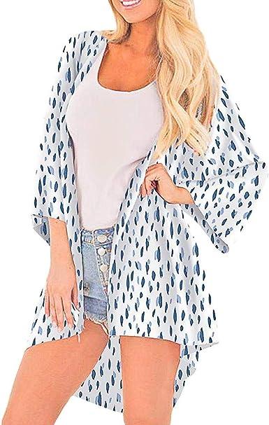 Qingsiy 2019 Blusa para la Playa Largo Bohemio Hippie Vestido Estampado De Serpient Mujer Tunica Piscina Kaftan Kimono Vestidos Maxi Verano Ropa de Baño Camisolas y Pareos Bikini Coverup: Amazon.es: Ropa y
