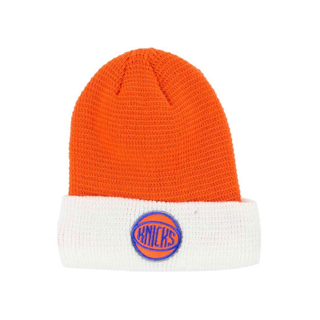 63cd7acc7 Adidas NBA New York Knicks Team Cuffed Knit Beanie (orange / white ...