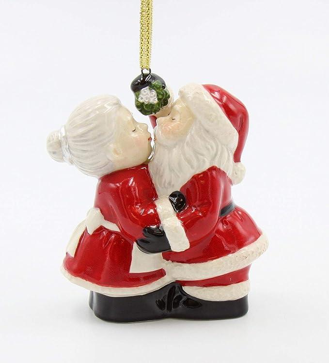 Set3 Nordic Swedish Ceramic Santa Claus Figurine Statue Christmas Decor Ornament