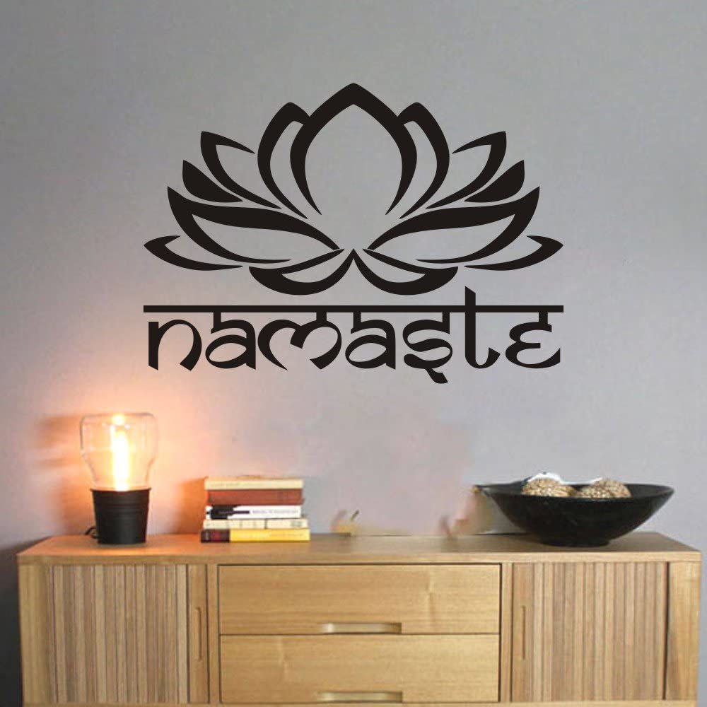 MoharWall Mandala Wall Decal Lotus Namaste Bedroom Sticker Vinyl Yoga Studio Religion Art Decor