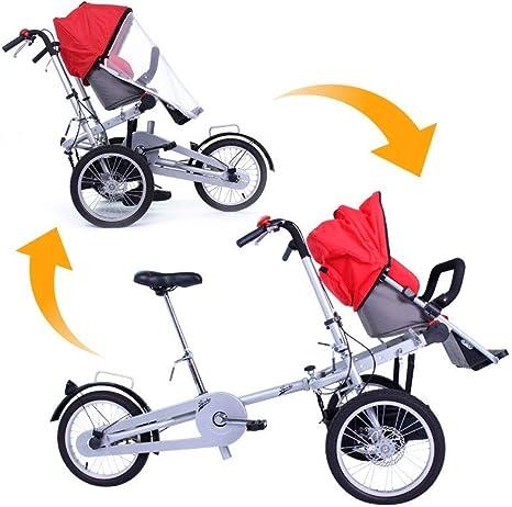 Riscko| Carrito Bebé Bicicleta Transformable Cochecito con Capota ...
