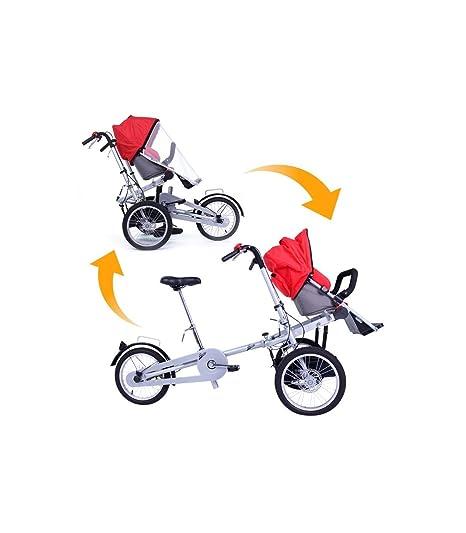 Riscko Bicicleta Carrito Bebé Rojo: Amazon.es: Deportes y ...