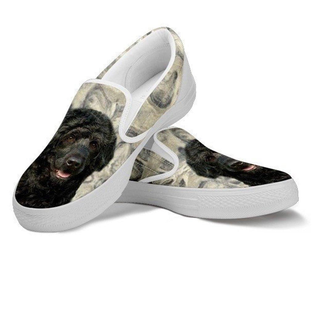 petkanvas Cute Portuguese Water Print Slip Ons Shoes for Kids