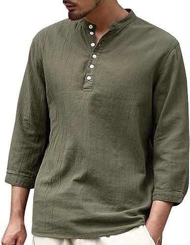Camisas De Hombre Camisa De Lino De Algodón De Verano Especial Estilo Camisa De Lino De
